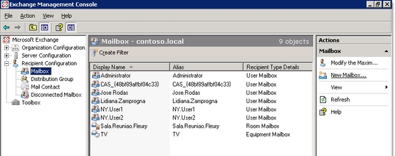 Managing mailboxes in exchange server 2007 part 1 management administration exchange - Exchange management console ...