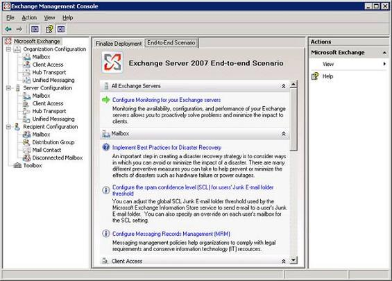 Transitioning from exchange 2000 2003 to exchange server 2007 part 2 migration deployment - Exchange management console ...