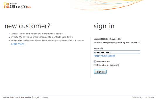 office 365 login. Sign-in page to Office 365