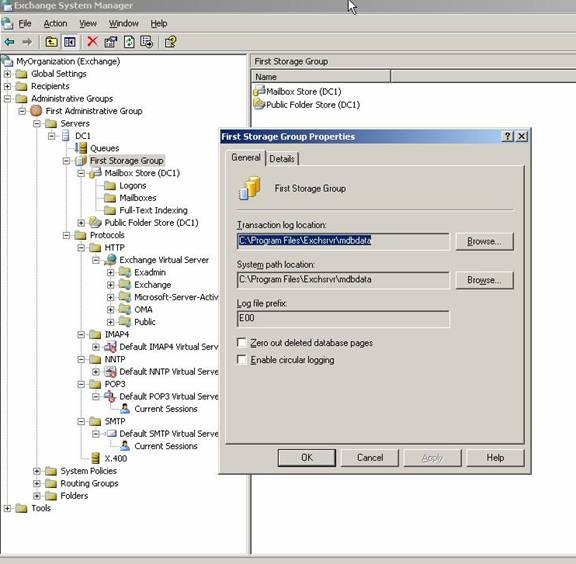 how to find message limit on exchange server
