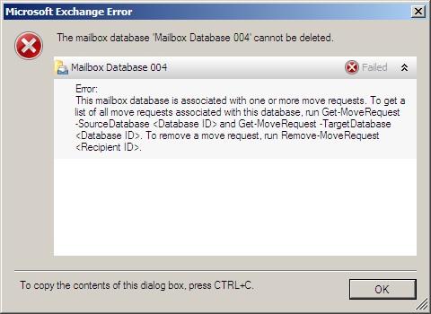 Microsoft Exchange Error (www.msexchange.org)