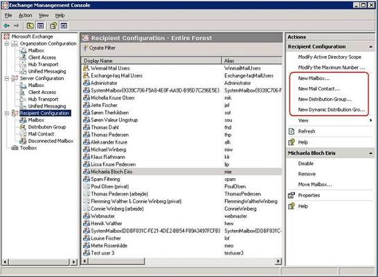 A first look at the new exchange 2007 system management console management administration - Exchange management console ...