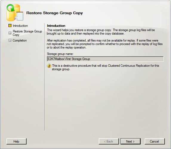 Exchange 2007 service pack 1 managing a ccr cluster using for Consul high availability