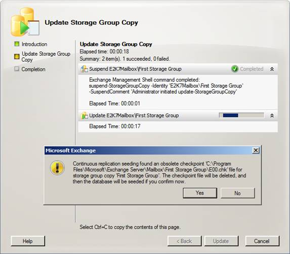 Exchange 2007 service pack 1 managing a ccr cluster using the exchange management console - Exchange management console ...